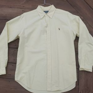 Mens yellow/white Ralph Lauren button up